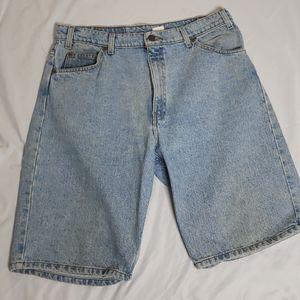 Levis 550 Blue Jean Shorts Denim 36 Orange Tab